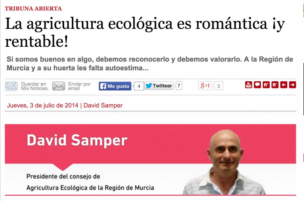 Artículo publicado en Murcia Economía