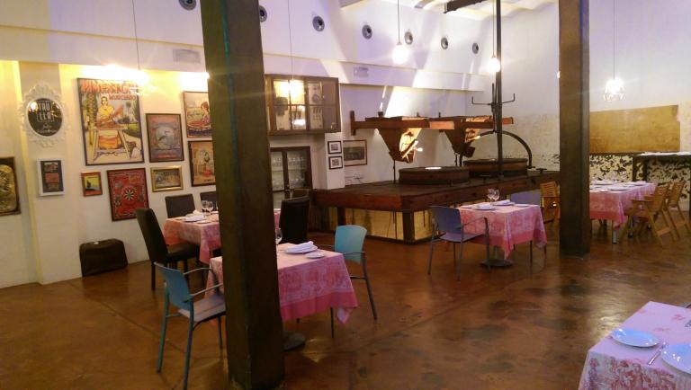 cocina creativa de Julio Velandrino en la Taulla, región de Murcia