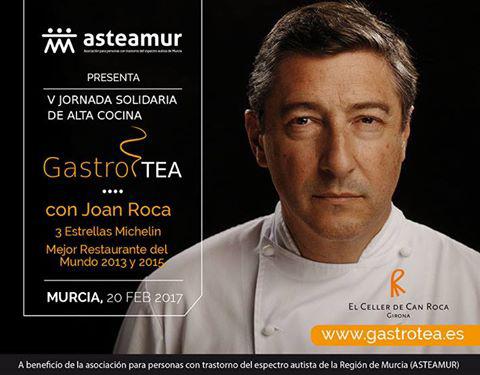 jornada solidaria de ata cocina, gastrotea, con el chef del Celler Can Roca Joan Roca