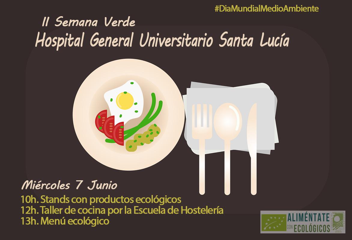 menú ecológico en hospital santa lucía de cartagena, día mundial del medio ambiente
